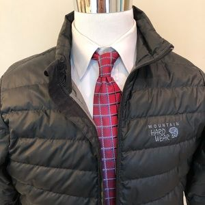 WARM Zip Jacket DOWN Feather BLACK Puffy Quilt M